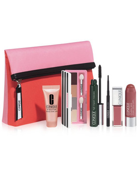 Clinique The Sweetest Thing Set: Shadow Quad, All About Eyes, High Impact Mascara, Chubby Stick Cheek, Pop Lip Colour