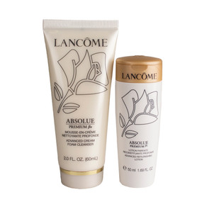 Lancome Absolue Premium Bx Advanced Foam Cleanser 2oz & Replenishing Lotion 1.69oz - Travel Set