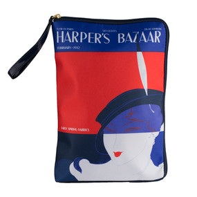 "Estee Lauder ""Harper's Bazaar"" Wristlet Clutch Cosmetic Makeup Travel Bag"