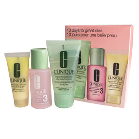 Clinique 3 Step Travel Size Set for Combination Oily to Oily Skin, Facial Soap 1oz + Clarifying Lotion 3 1oz + DDMG .5oz