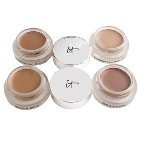 it Cosmetics Build-a-Brow Waterproof 5-in-1 Micro-Fiber Creme Gel Stain, 0.12oz Unboxed