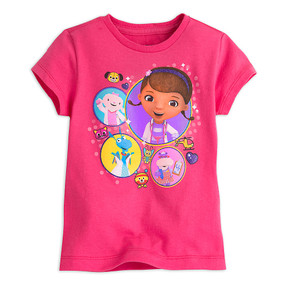Disney Store Doc McStuffins Pink Short Sleeve Tee T-Shirt for Girls