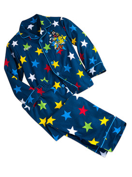 Disney Store Boys Mickey Mouse and Friends Long Sleeve & Pants Pajama Set, Blue