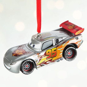 Disney Store 2016 Cars - Lightning McQueen Light-Up Sketchbook Ornament