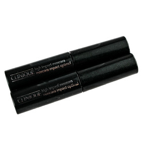 Clinique High Impact Mascara, Black, set of 2 Travel Size .14oz/4g each Unboxed