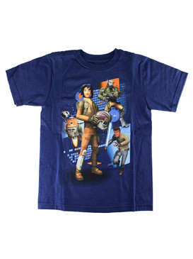 Disney Store Boy Star Wars Rebels Short Sleeve Tee T-Shirt, Blue
