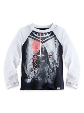 Disney Store Boys Kylo Ren Star Wars: The Force Awakens Long Sleeve Baseball Tee