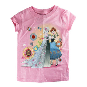 Disney Store Girls Anna & Elsa - Frozen - Fever Sunshower T-Shirt, Pink