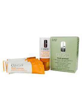 Clinique Fresh Pressed 7-Day De-Aging System with Vitamin C (Power Cleanser & Daily Booster)