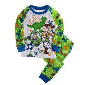 Disney Store Boys Buzz Lightyear/Woody & Rex - Toy Story - PJ Pal Pajama Set