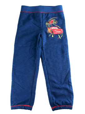"Disney Store Boys Cars Lightning McQueen ""Hot wheels"" Fleece Pants, Blue"