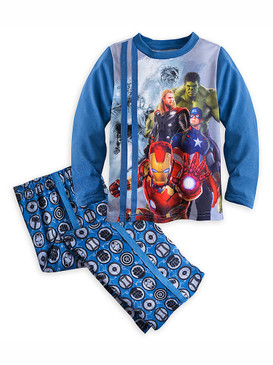 Disney Store Boys Marvel's Avengers: Age of Ultron Pajama Sleep Set, Blue