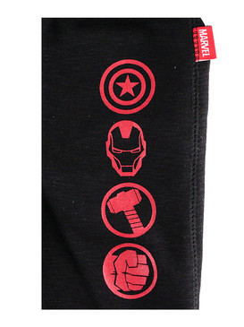 "Disney Store Boys Avengers ""Power symbols"" Fleece Sweatpants, Black"