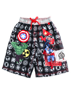 Disney Store Boys Avengers Assemble Swim Trunks, Multi-Color