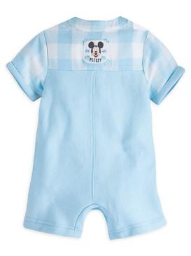 "Disney Store Baby Boys Mickey Mouse ""Hello Little Friend"" Short Sleeve Romper"