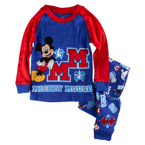 "Disney Store Boys Mickey Mouse ""1928"" PJ Pals Long Sleeve & Pants Pajama Set"