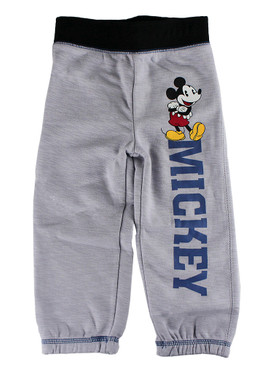 Disney Store Boys Mickey Mouse Standing tall Sweatpants, Gray
