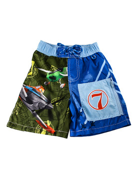 Disney Store Boys Dusty & Ned - Planes - Swim Trunks, Blue/Green