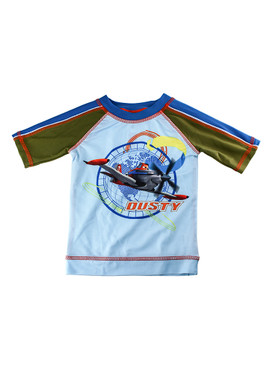 Disney Store Boys Dusty - Planes - Rash Guard, Blue