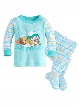 Disney Store Baby Sleepy - Snow White & The Seven Dwarfs - PJ Pals Pajama Set