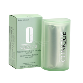 Clinique Facial Soap With Dish - Oily Skin Formula - 5.2oz/150g