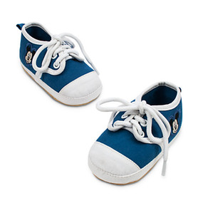 Disney Store Mickey Mouse Sneakers Shoes for Baby Boys Beach - Blue & White