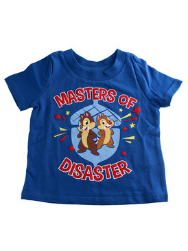 """Disney Store Baby Boys Chip & Dale """"Masters of Disaster"""" T-Shirt, Blue, 0-3 Months"""
