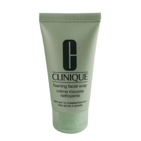 Clinique Foaming Facial Soap Very Dry to Comb. Oily Skin, Travel Size 1oz/30ml