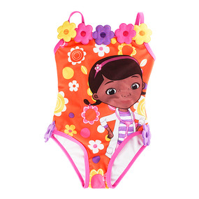 Disney Store Doc McStuffins Orange 1-Piece Swimsuit for Girls