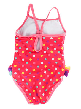 Disney Store Girls Minnie Mouse Bows One-piece Swimsuit, Pink