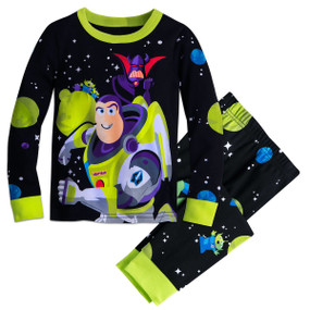 Disney Store Boys Buzz Lightyear - Toy Story - Long Sleeve PJ PALS Pajama Set