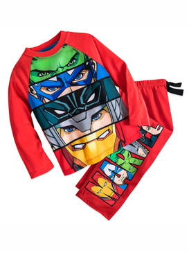 Disney Store Boys Marvel's - The Avengers - Long Sleeve Pajama set, Red