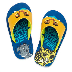 "Disney Store Boys Kion - Lion Guard - ""Guard Protect Defend"" Flip Flops"