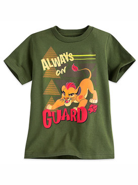 "Disney Store Boys Kion - Lion Guard - ""Always on Guard"" T-Shirt, Green"