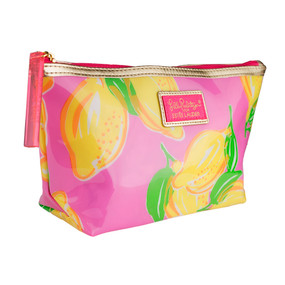 """Estee Lauder """"Lily Pulitzer"""" Pink with Limes Cosmetic Makeup Travel Bag"""