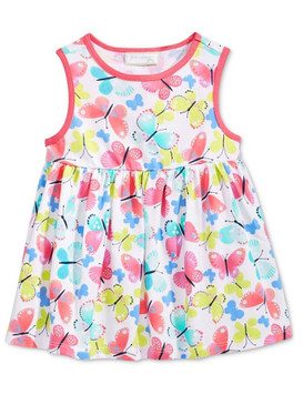 First Impressions Baby Girls Butterfly-Print Tunic Dress