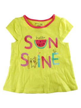 First Impressions Baby Girls ''Hello Sunshine'' Flutter-Sleeve Yellow T-Shirt
