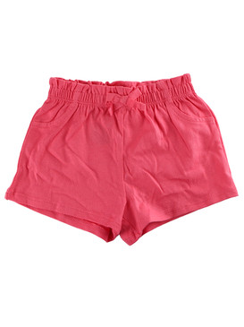First Impressions Baby Girls Solid Ruffle-Waist Coral Sunrise Shorts