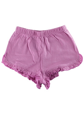 First Impressions Baby Girls Solid Ruffle-Waist Purple Shorts
