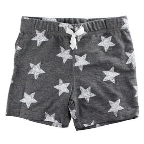 First Impressions Baby Boys Gray Stars-Print Shorts