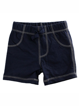 First Impressions Baby Boys Solid Navy Blue Shorts