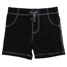 First Impressions Baby Boys Solid Black Shorts