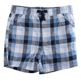First Impressions Baby Boys Blue & Black Plaid Shorts