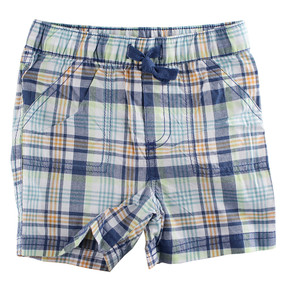 First Impressions Baby Boys Blue Plaid Shorts