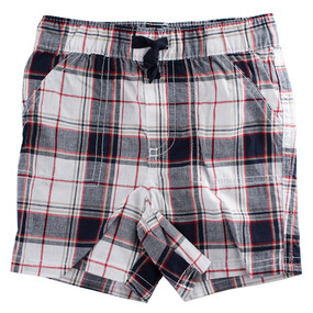 First Impressions Baby Boys Black & Red Plaid Shorts