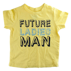 First Impressions Baby Boys ''Future Ladies Man'' Yellow T-Shirt