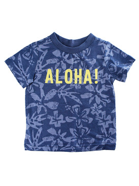 First Impressions Baby Boys ''ALOHA!'' Blue T-Shirt