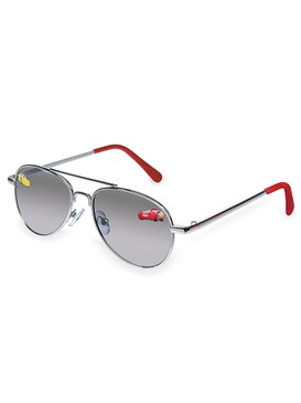Disney Store Boys Lightning McQueen & Cruz Ramirez - Cars 3 - Aviator Sunglasses, Metallic/Red, One size