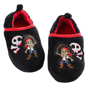 Disney Store Boys Jake & The Neverland Pirates Closed Slippers Shoes, Black