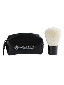 Anastasia Beverly Hills Kabuki Powder Face Brush & Bag - Travel Size
